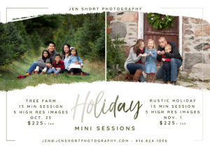 Holiday Mini and York region photographer